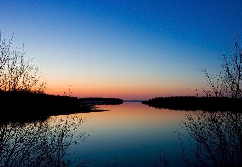 "фото ""На Онеге"" метки: пейзаж, закат"