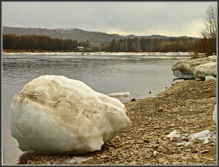 "photo ""Drifting of ice"" tags: landscape, water"
