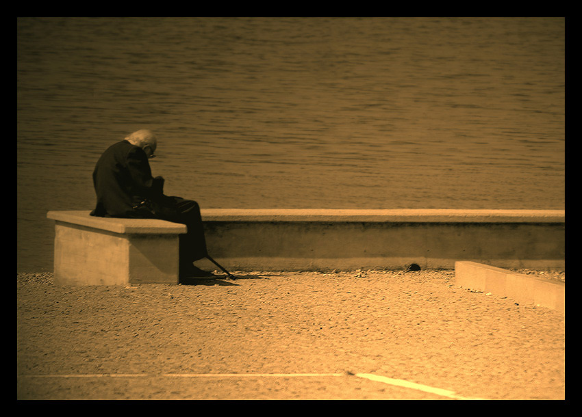 "photo ""The solitudine of a old"" tags: misc.,"