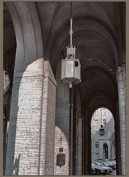 "photo ""Shadows, arches, lanterns."" tags: architecture, misc., landscape,"