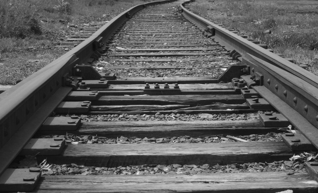 "photo ""Rails to Nowhere"" tags: landscape, architecture,"