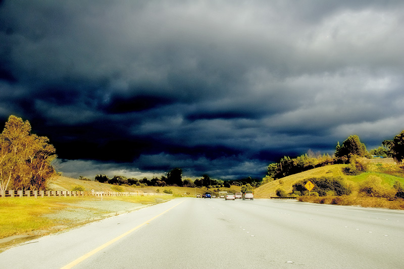 "photo ""Scenic highway"" tags: landscape, travel, North America, clouds"