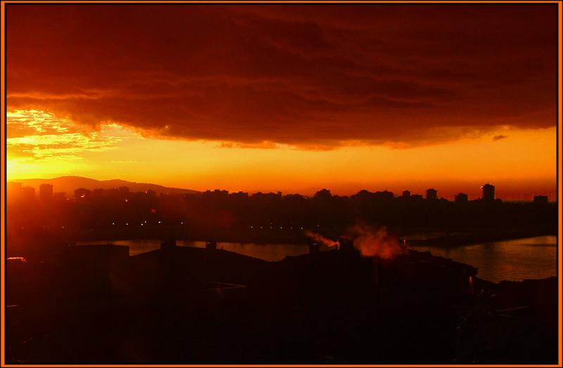 "photo ""Sunrise"" tags: landscape, panoramic, sunset"