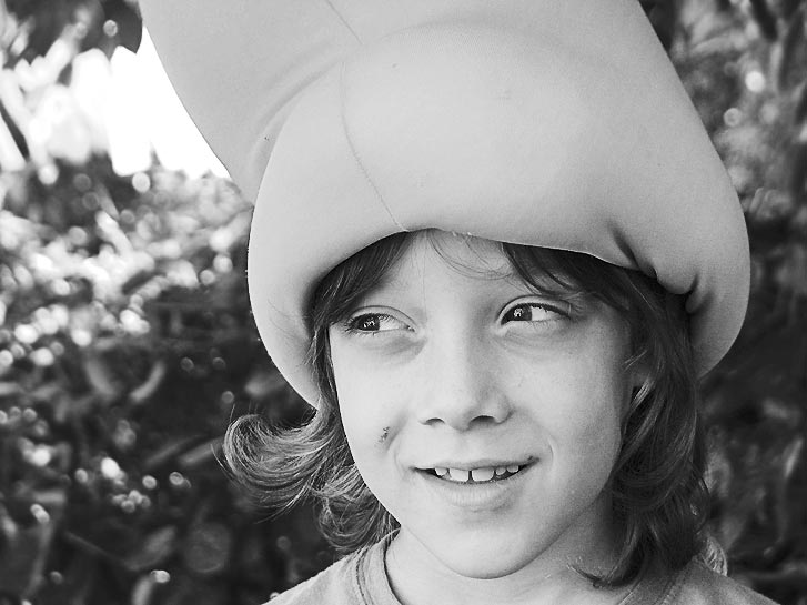 "photo ""Peter Pan"" tags: portrait, black&white, children"