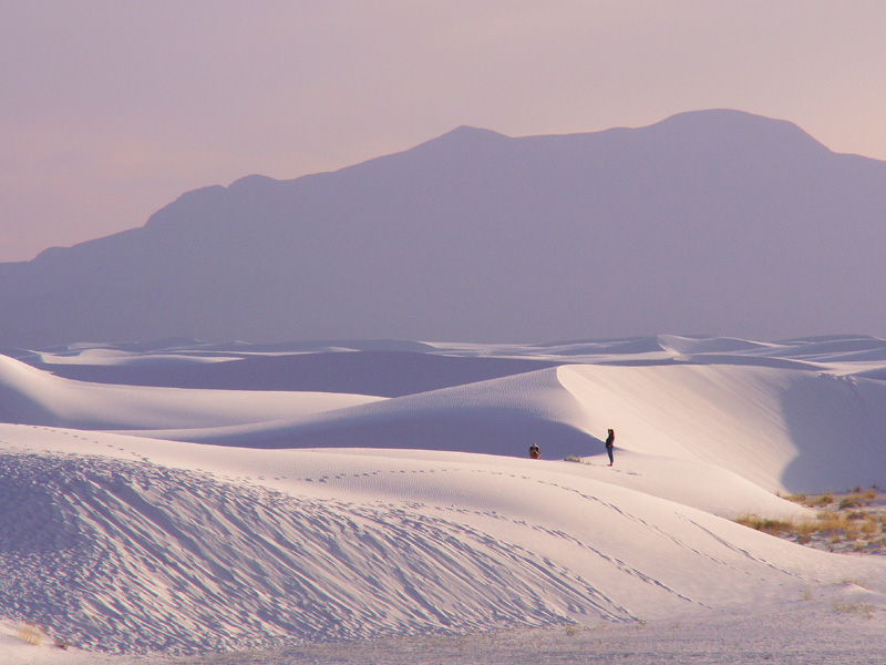 "photo ""White Sands at Dusk."" tags: landscape, travel, North America"