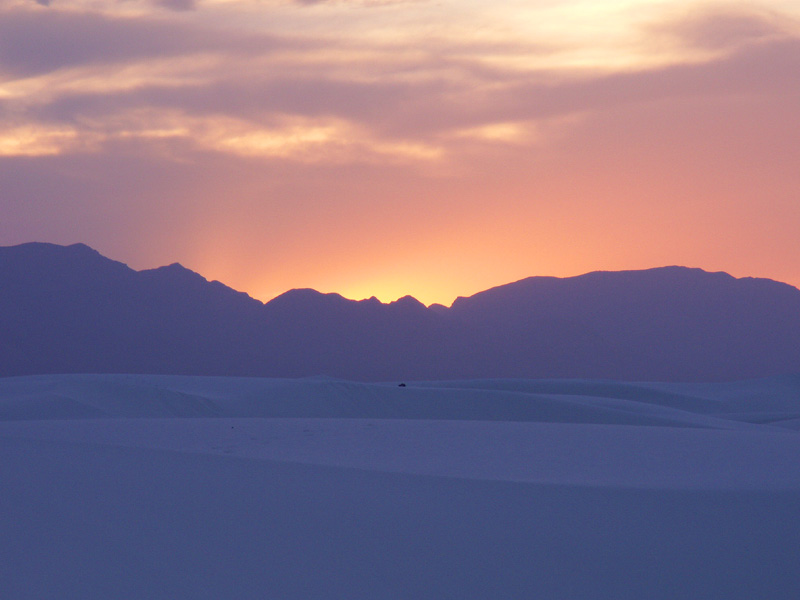 """photo """"Sunset over White Sands"""" tags: landscape, travel, North America, sunset"""