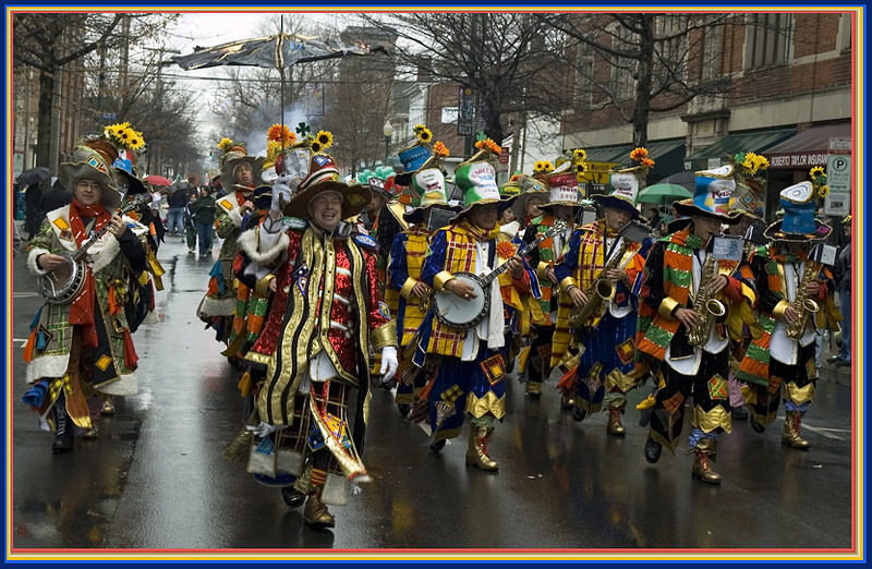"""photo """"Clown's Parade"""" tags: reporting, humor,"""