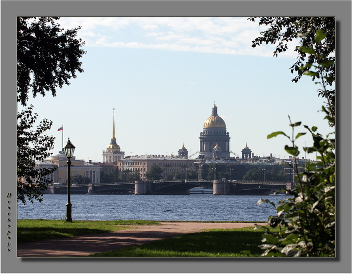 "photo """"Window"" to St.-Petersburg..."" tags: genre, travel, Europe"