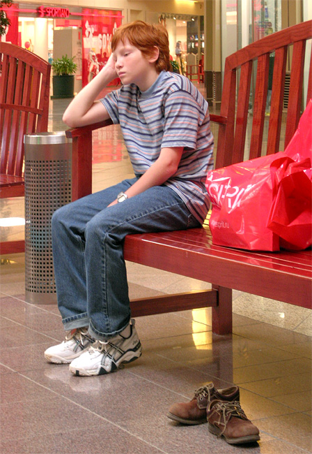 """photo """"boredom - shoping - pair of shoes"""" tags: genre,"""