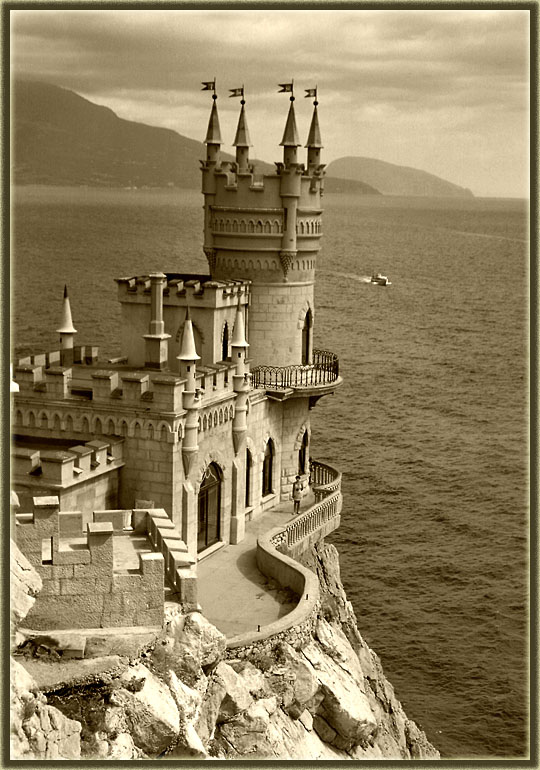 Крым картинки черно-белые