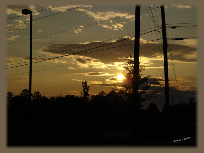 "photo ""Semiurban sunset"" tags: landscape, sunset"