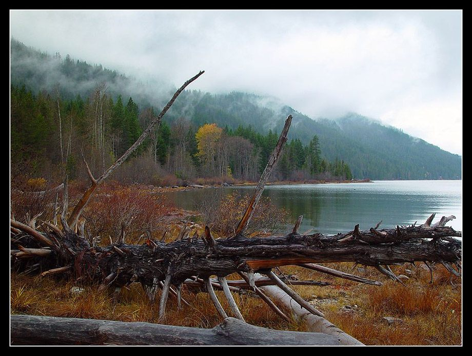 "photo ""Fall, Fog, Lake"" tags: landscape, mountains, water"