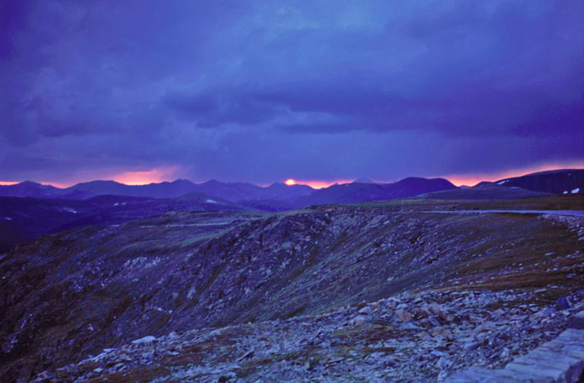 "photo ""Sunset in rocky Mtn. National Park"" tags: landscape, mountains, sunset"