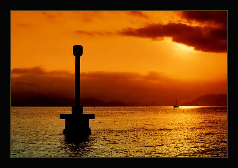 "photo ""Golden Light"" tags: landscape, summer, sunset"