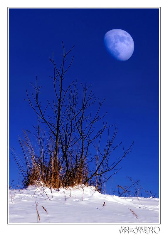 "photo ""Sunrise moon"" tags: landscape, sunset"