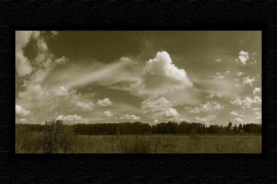 "photo ""***"" tags: landscape, black&white, clouds"