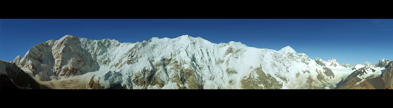"photo ""Caucasus, Bezengi Wall"" tags: panoramic, landscape, mountains"