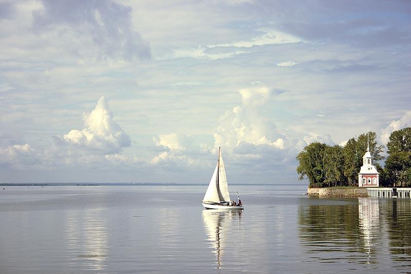 """фото """"Большая регата"""" метки: пейзаж, вода, облака"""