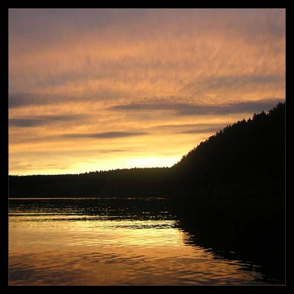 """фото """"Ванильное небо"""" метки: пейзаж, вода, закат"""