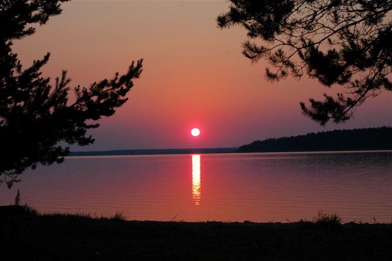 """фото """"Восход на Селигере."""" метки: пейзаж, закат"""