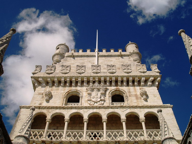 """photo """"An unusual perspective of the Torre de Belem"""" tags: architecture, landscape,"""