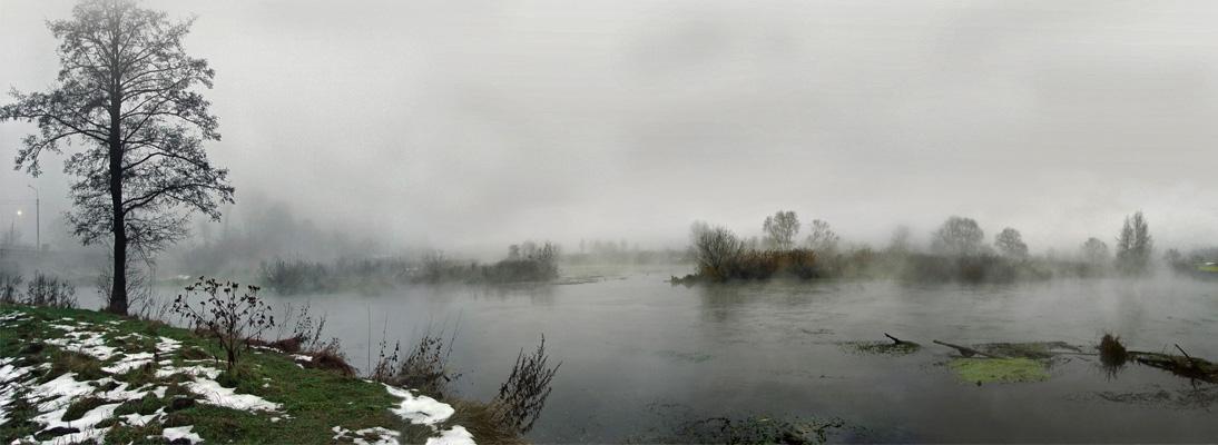 """фото """"Smoke on the water"""" метки: панорама, пейзаж, осень"""