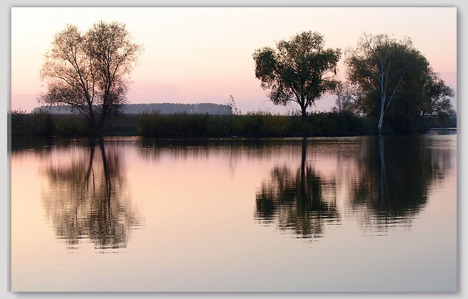 """фото """"Розовый вечер"""" метки: пейзаж, осень"""
