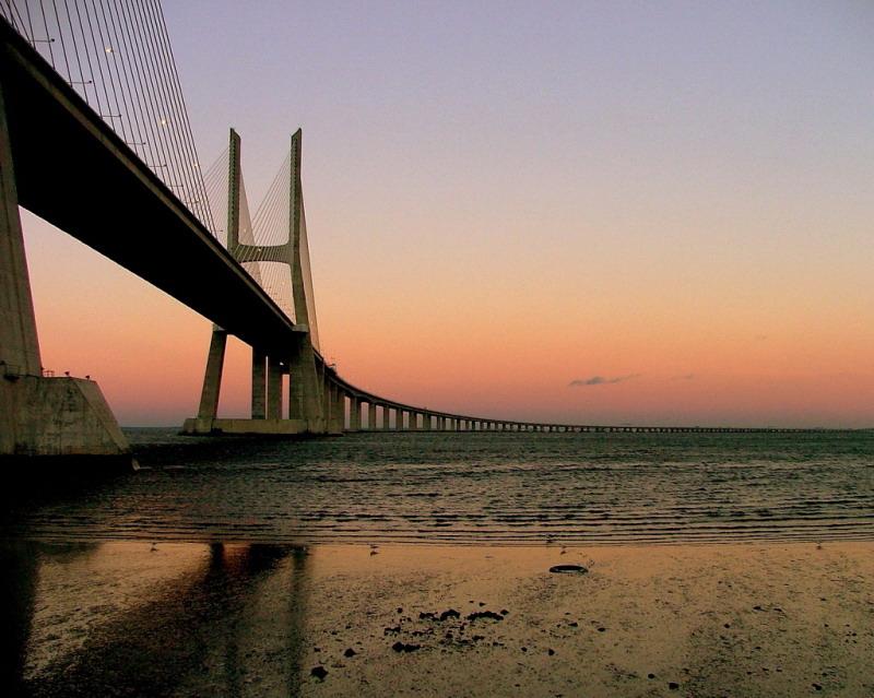 """photo """"Bridge at sunset"""" tags: landscape, architecture,"""