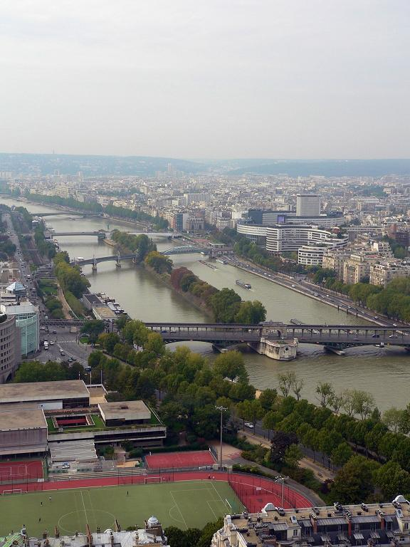 """photo """"The Seine from the Eiffel Tower..."""" tags: architecture, landscape,"""