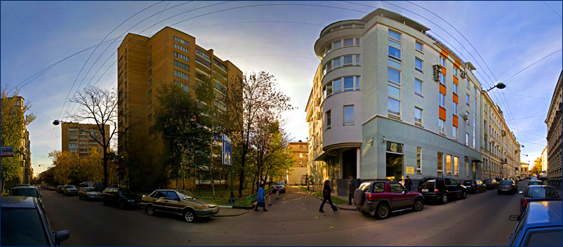 """photo """"Alleyway"""" tags: panoramic, architecture, landscape,"""