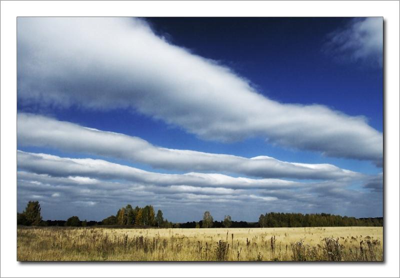 """фото """"На север или последние кучевые.."""" метки: пейзаж, облака, осень"""