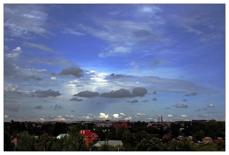 "фото ""Небо над городом"" метки: пейзаж, панорама,"
