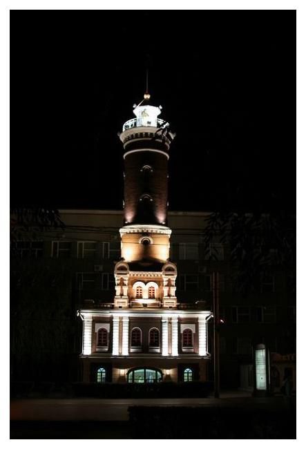 """фото """"г. Омск, Пожарная башня (1)"""" метки: архитектура, пейзаж,"""
