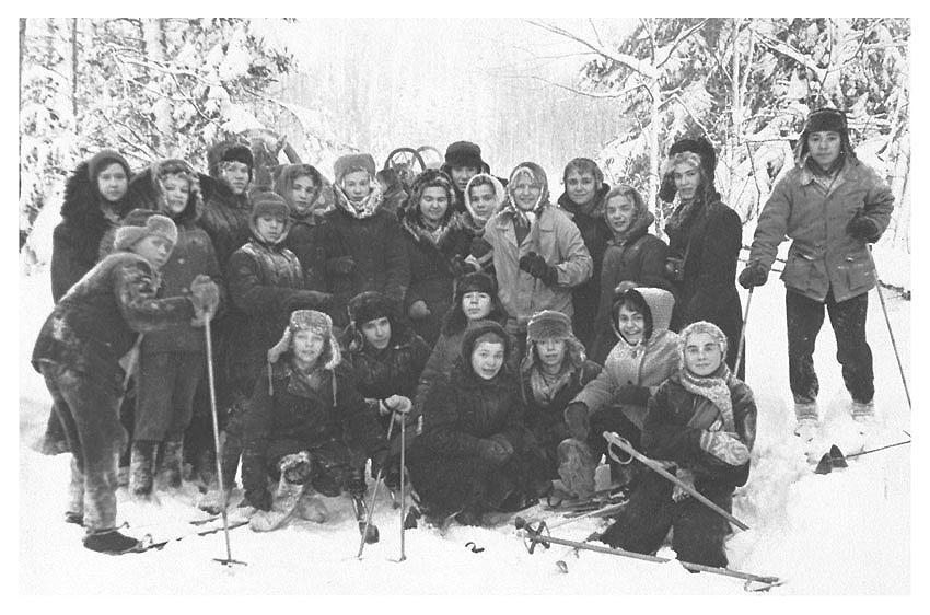"""фото """"На лыжной прогулке с классом"""" метки: ретро, репортаж,"""