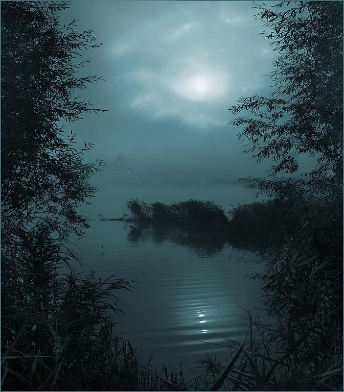 """фото """"В такую ночь поэты одиноки"""" метки: пейзаж, вода, ночь"""