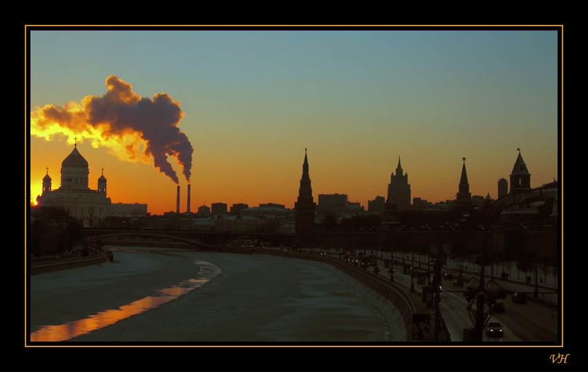 "photo ""Sunset above Moscow"" tags: landscape, architecture, sunset"
