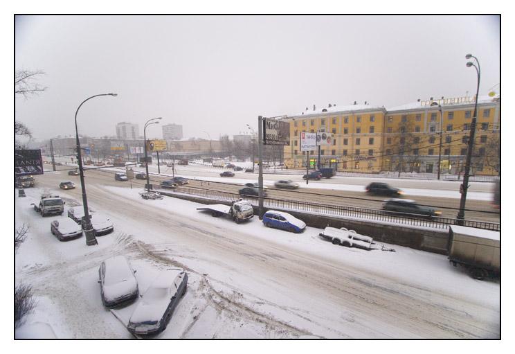 "photo ""Botanicheskaya str."" tags: landscape, architecture, winter"