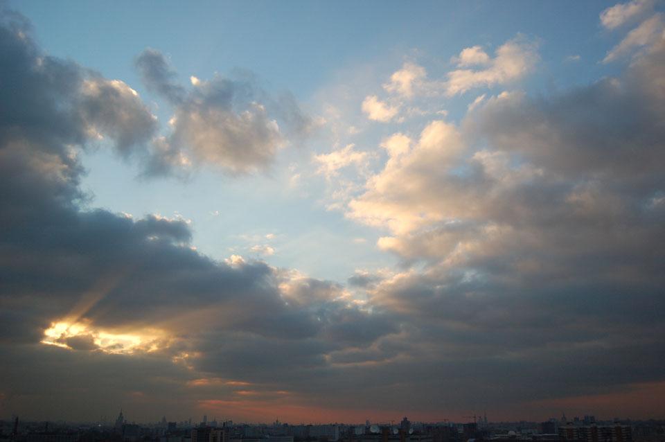 """фото """"Вечернее небо города"""" метки: пейзаж, закат"""