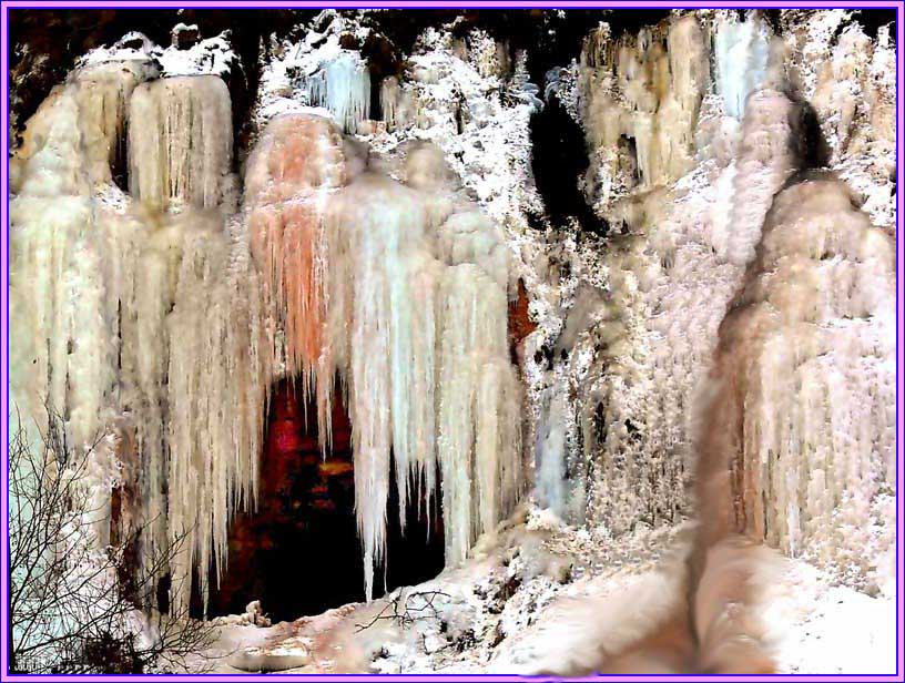 "фото ""Причуды зимнего водопада"" метки: пейзаж, зима"