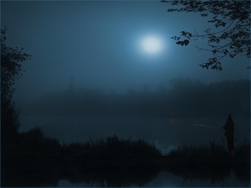 """фото """"Лунная идиллия"""" метки: пейзаж, вода, ночь"""
