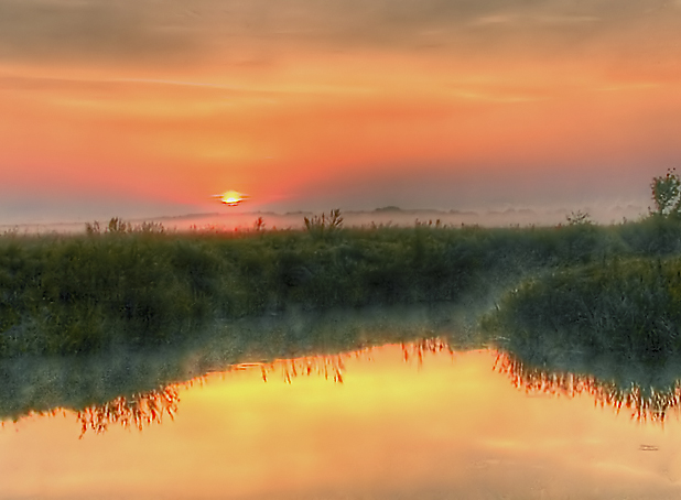 "photo ""Morning on the River"" tags: nature, landscape, sunset"