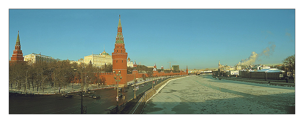 "photo ""Kremlin winter"" tags: architecture, panoramic, landscape,"