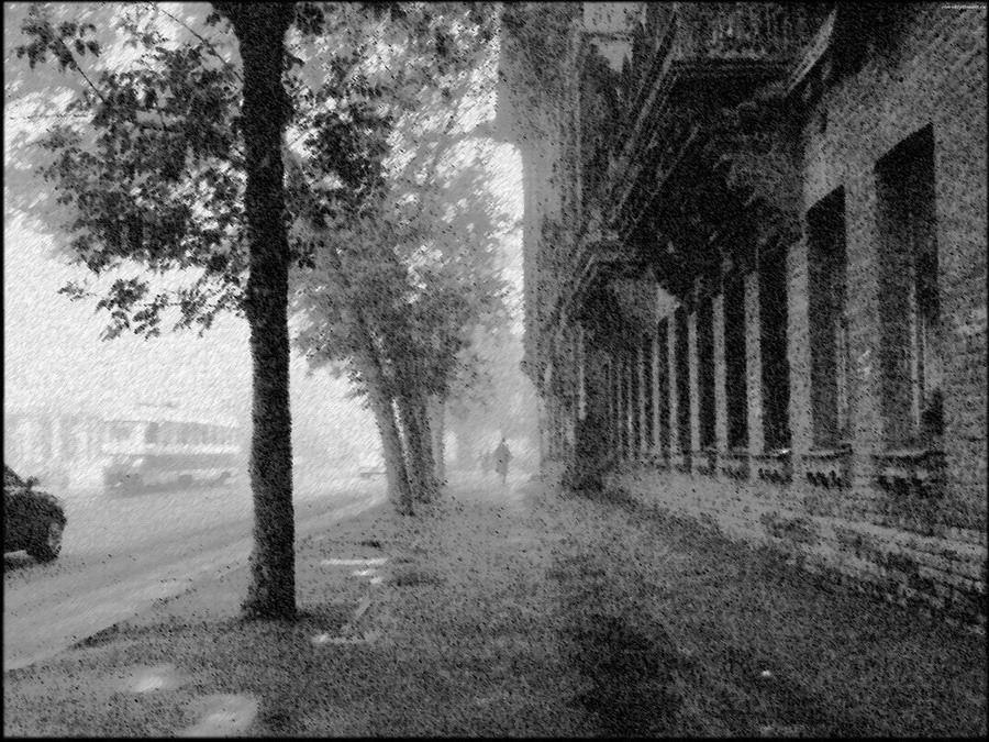 "фото ""Улица..дождь.."" метки: архитектура, пейзаж,"
