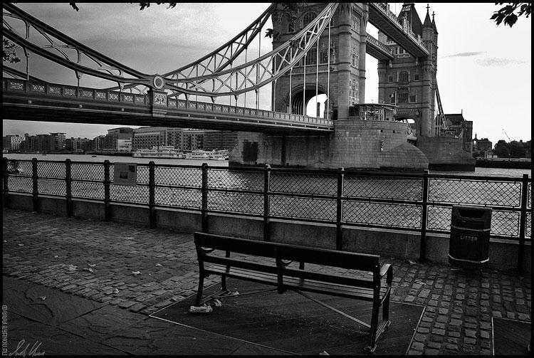 """photo """"Tower Bridge / London"""" tags: architecture, black&white, landscape,"""