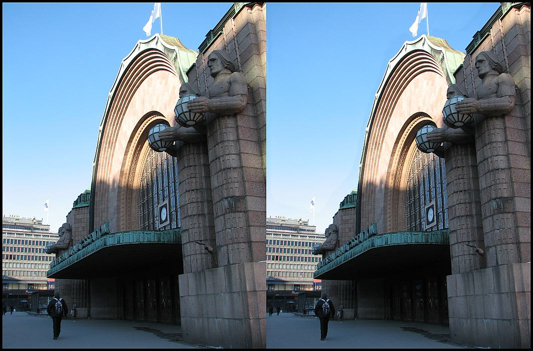 "photo ""Railwaystation in Helsinki"" tags: architecture, travel, landscape, Europe"