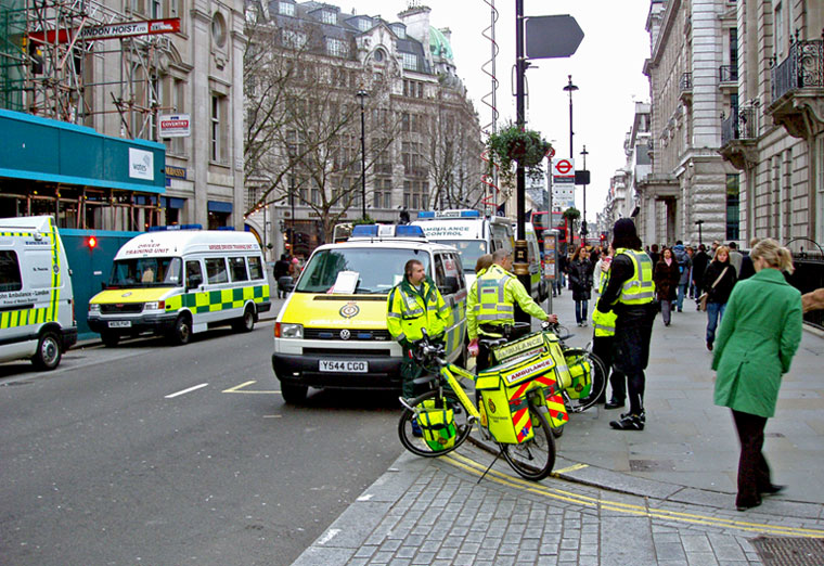 "photo ""Bicycle Ambulance"" tags: travel, Europe"