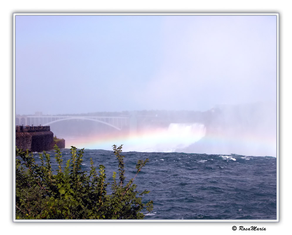 "photo ""Rainbow over Niagara"" tags: landscape, travel, North America, water"