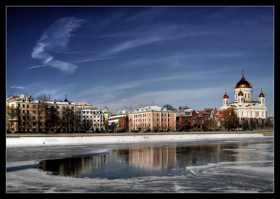 "фото ""Лёд и птица"" метки: архитектура, пейзаж, зима"