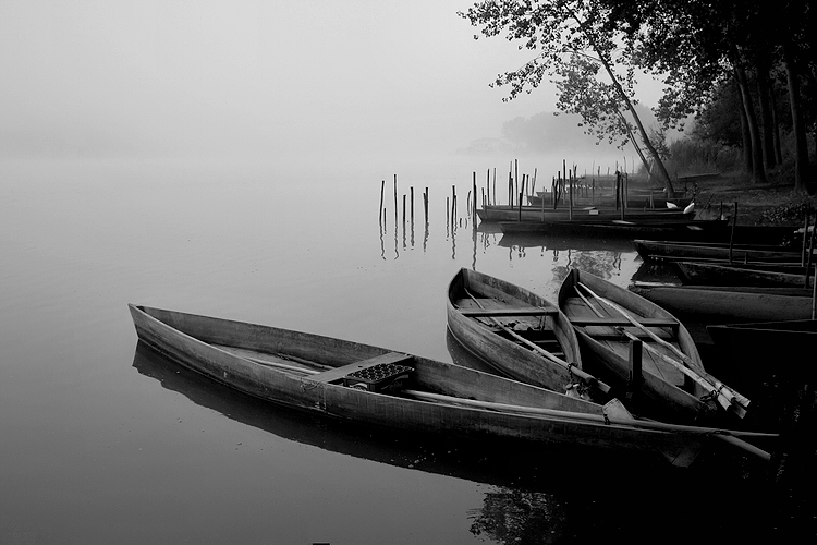 "photo ""Quietly"" tags: landscape, black&white, water"