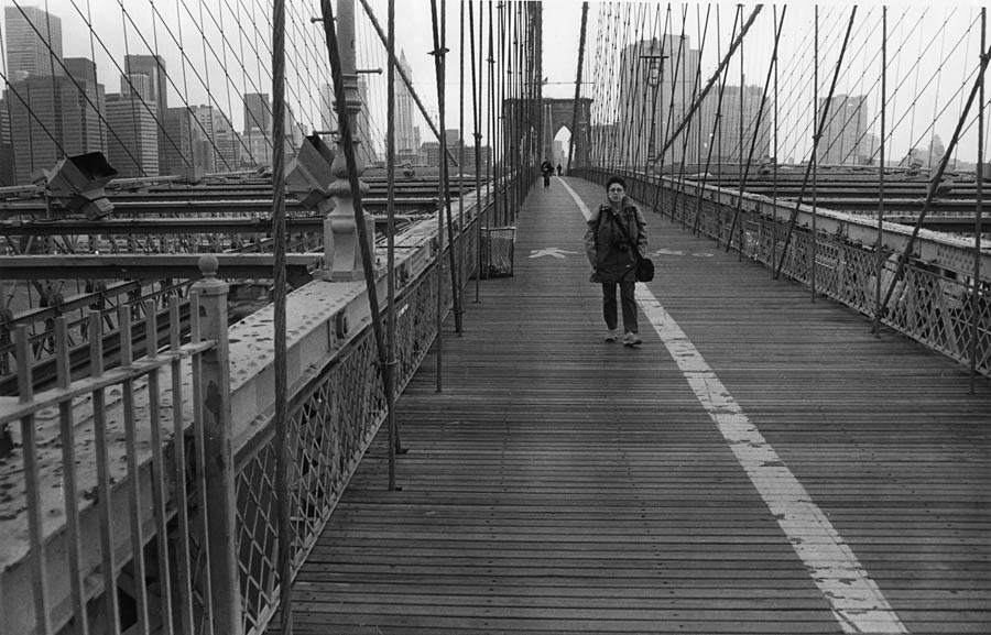 "photo ""Bruclin bridge"" tags: black&white, travel, North America"
